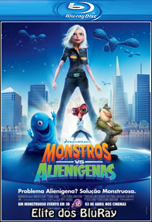 Monstros vs Alienígenas 3D Half SBS BluRay 1080p x264 Dual Áudio Capa