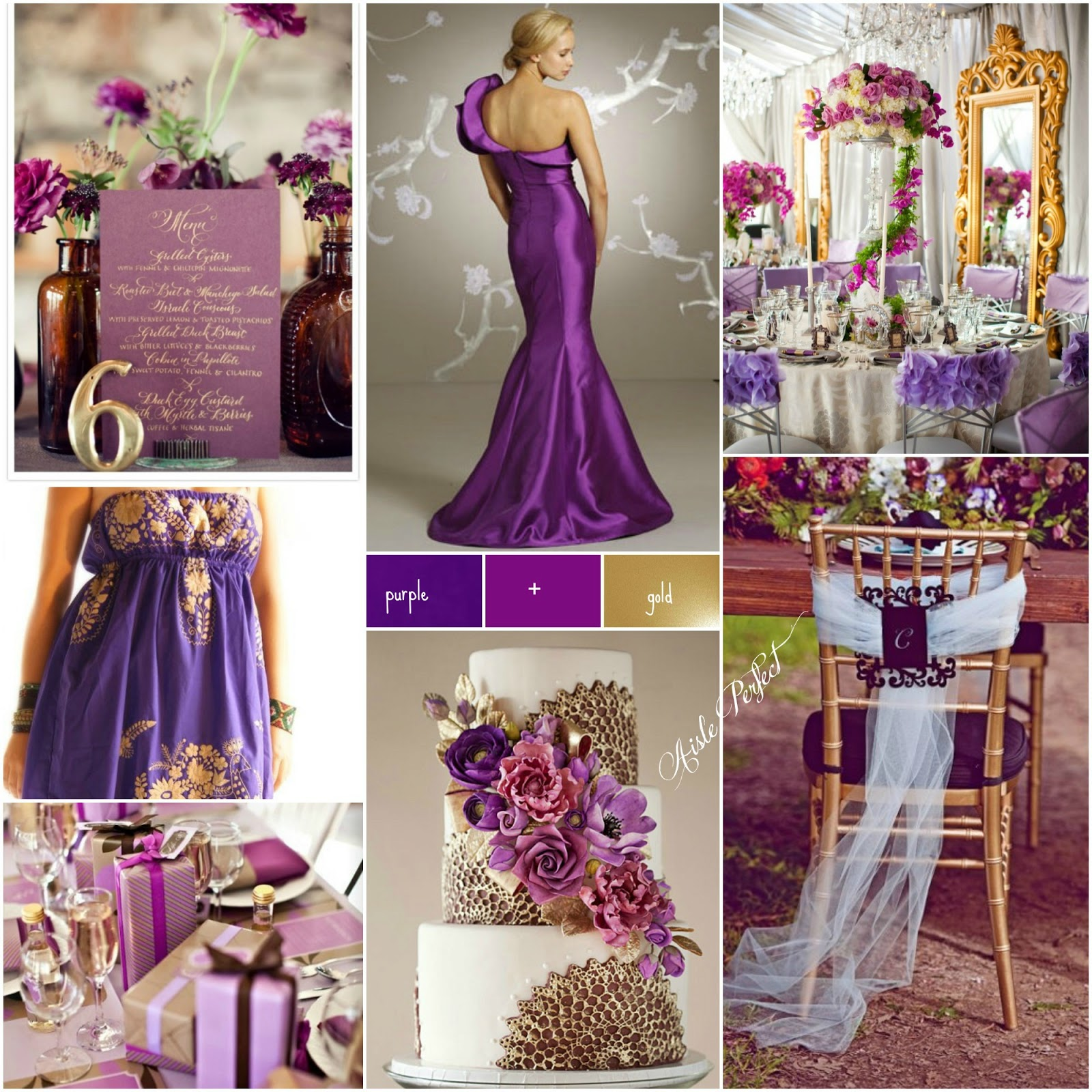 purple gold aisle perfect. Black Bedroom Furniture Sets. Home Design Ideas
