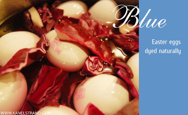 Dye your Easter eggs blue with red cabbage