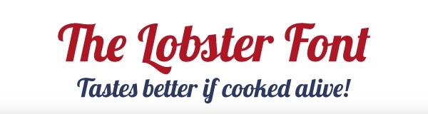 Lobster Yazı Font