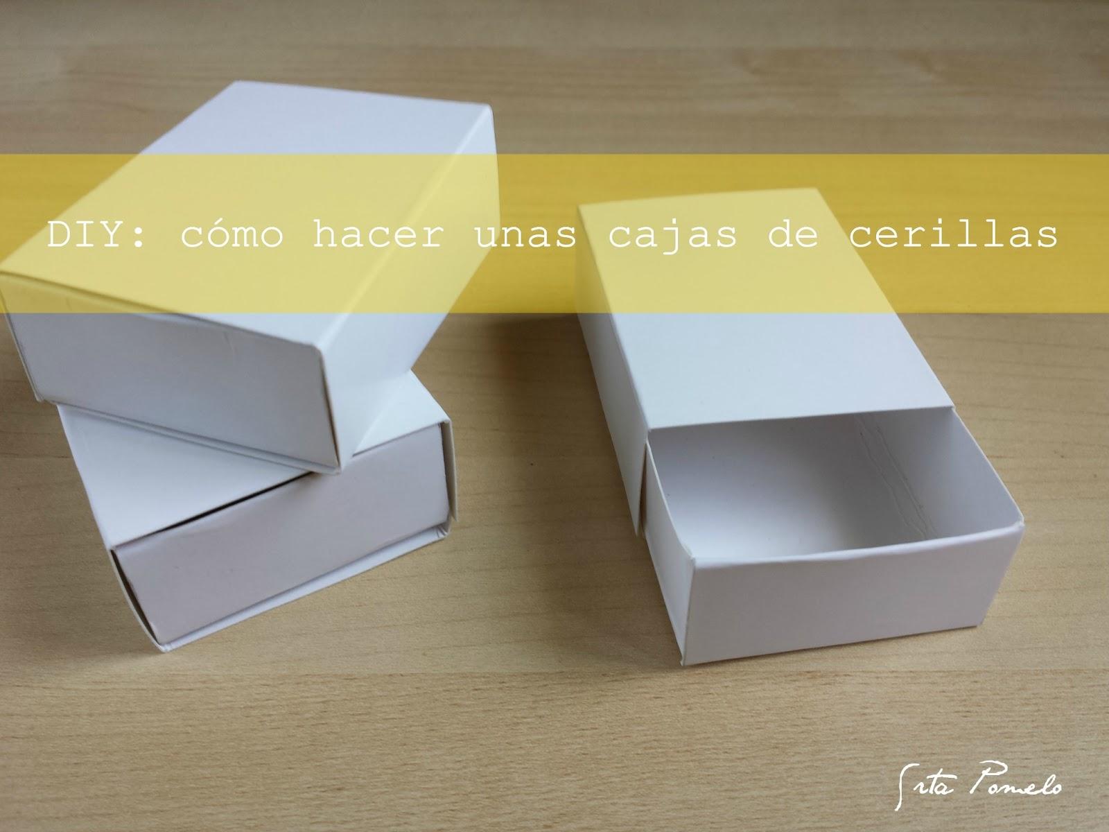Srta pomelo diy c mo hacer unas cajas de cerillas - Como hacer cajitas de cartulina ...