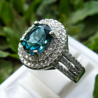 Cincin Batu Permata London Blue Topaz - SP587