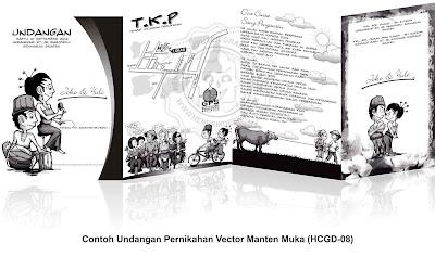 Contoh Undangan Pernikahan Vector Manten (HCGD-08)