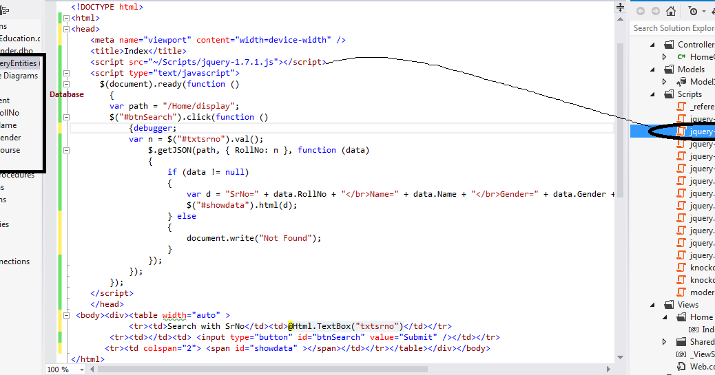 Use JSON and MVC 4.0 to Retrieve Data from Database with