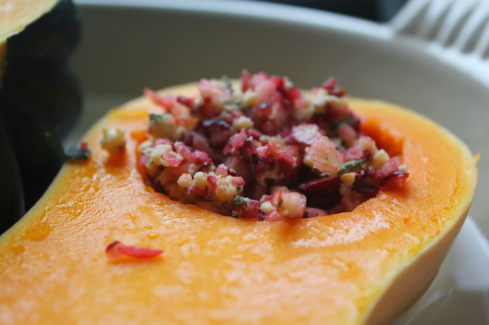 Winter squash with cranberry-sage butter