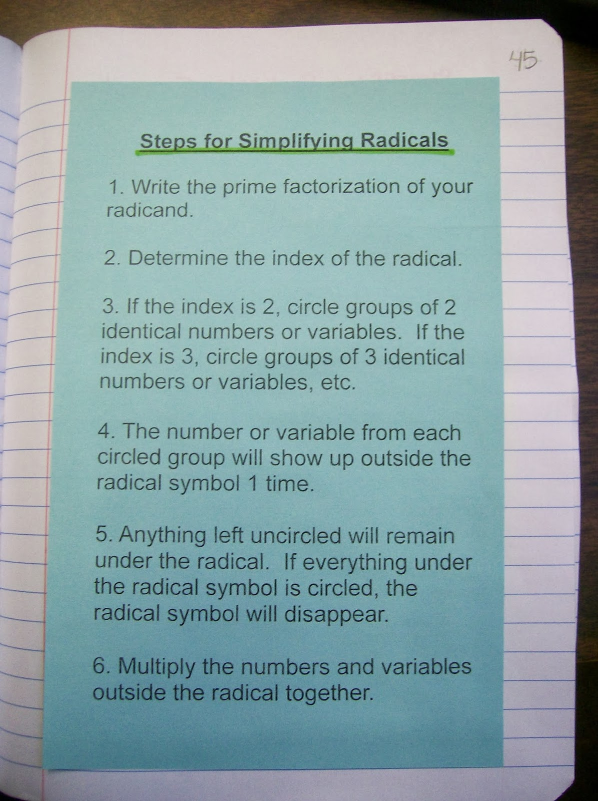 Math Love Radical Radicals – Simplifying Radicals Worksheet Pdf