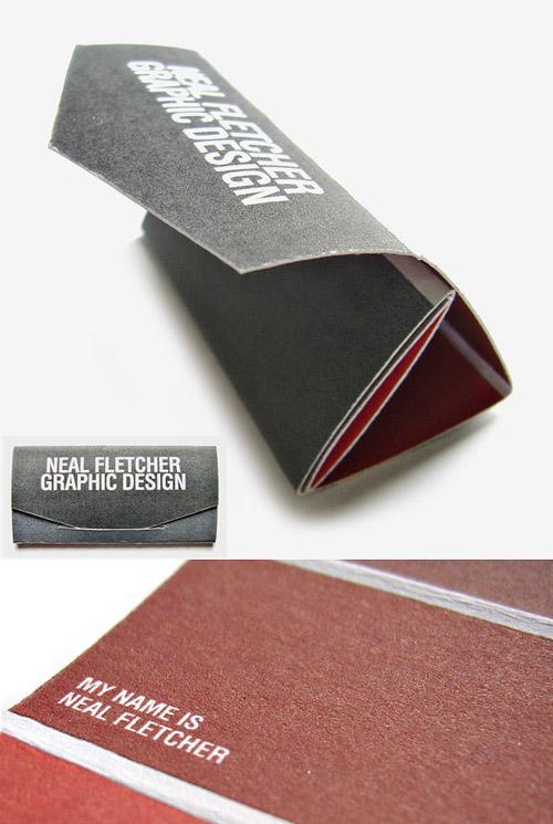 Cartões de visita criativos - Neil Fletcher - Design
