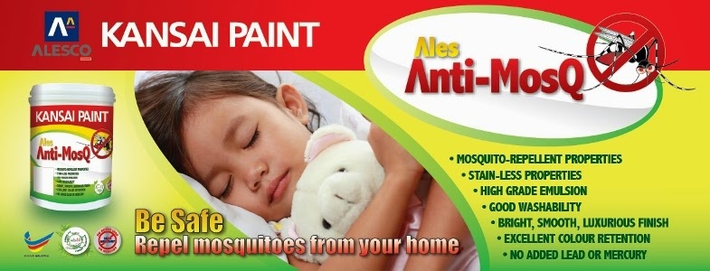 Use paint to repel mosquitoes