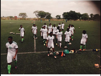 Photo Of Super Falcons Players In Training This Morning Ahead Of The FIFA Women's World Cup
