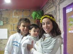Raquel, Joel e Nel