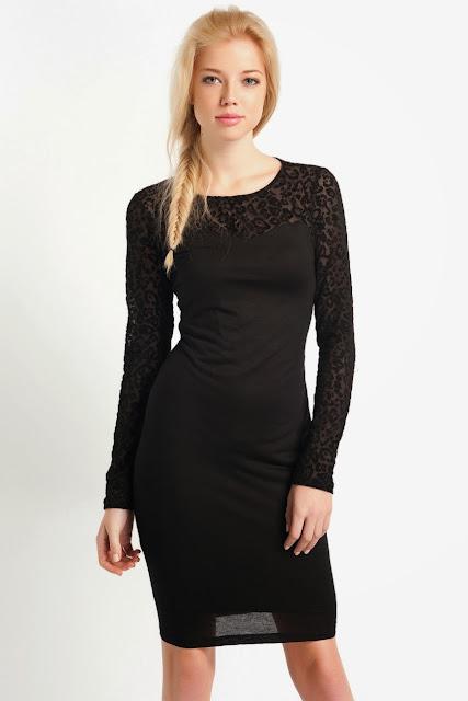 koton siyah renk dantelli kısa elbise, koton 2014