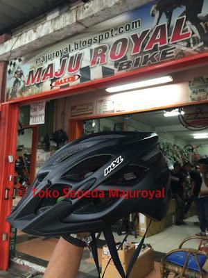 Helm Sepeda MXL mirip Fox Flux HITAMDOFF