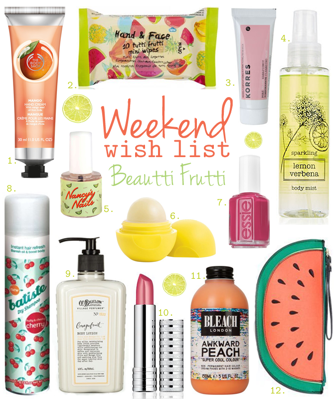 Weekend Wish List – Beautti Frutti