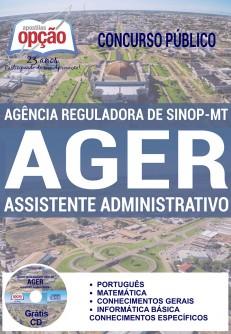 Apostila AGER MT - Assistente Administrativo - Agência Reguladora de Sinop