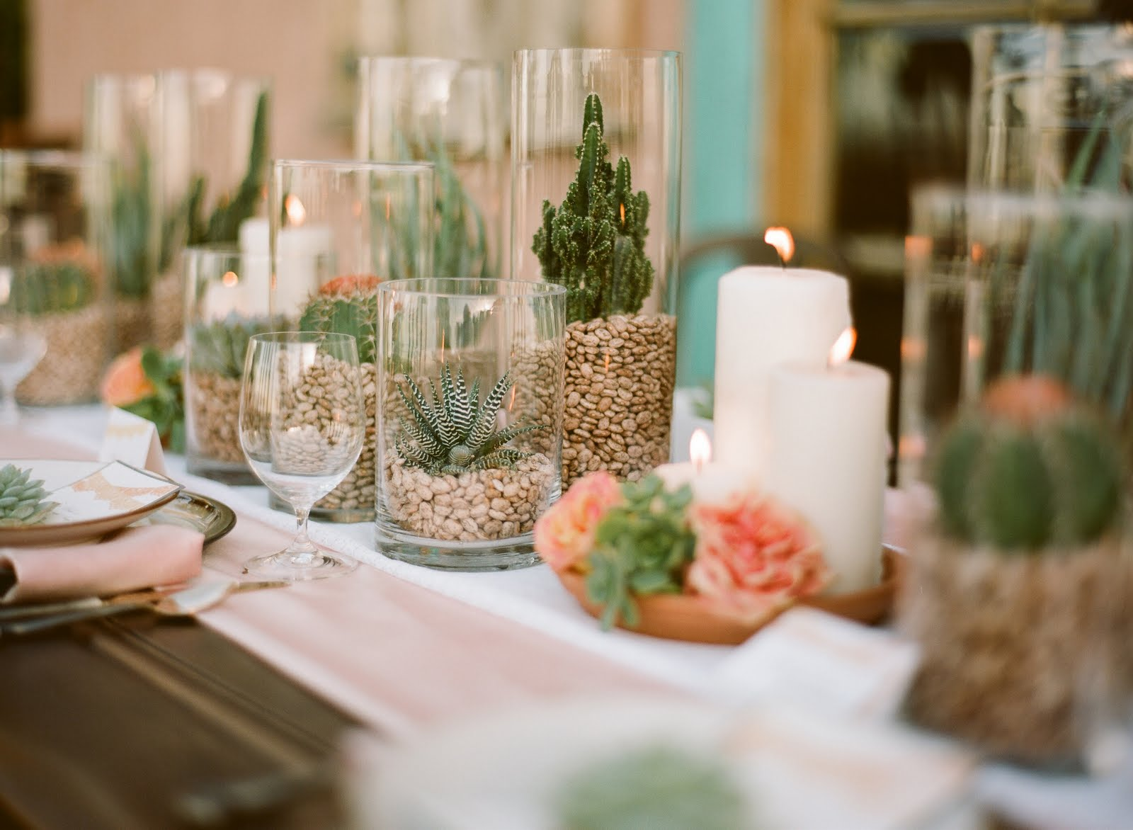 Spanish bridal fashion with mexican wedding inspiration for Table arrangements