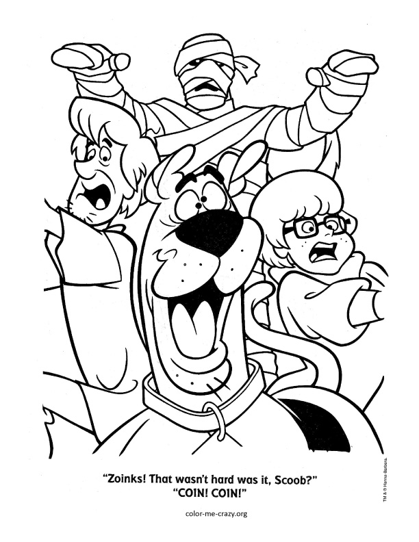 Colormecrazy Org Scooby Doo Coloring Pages Scooby Doo Characters Coloring Pages