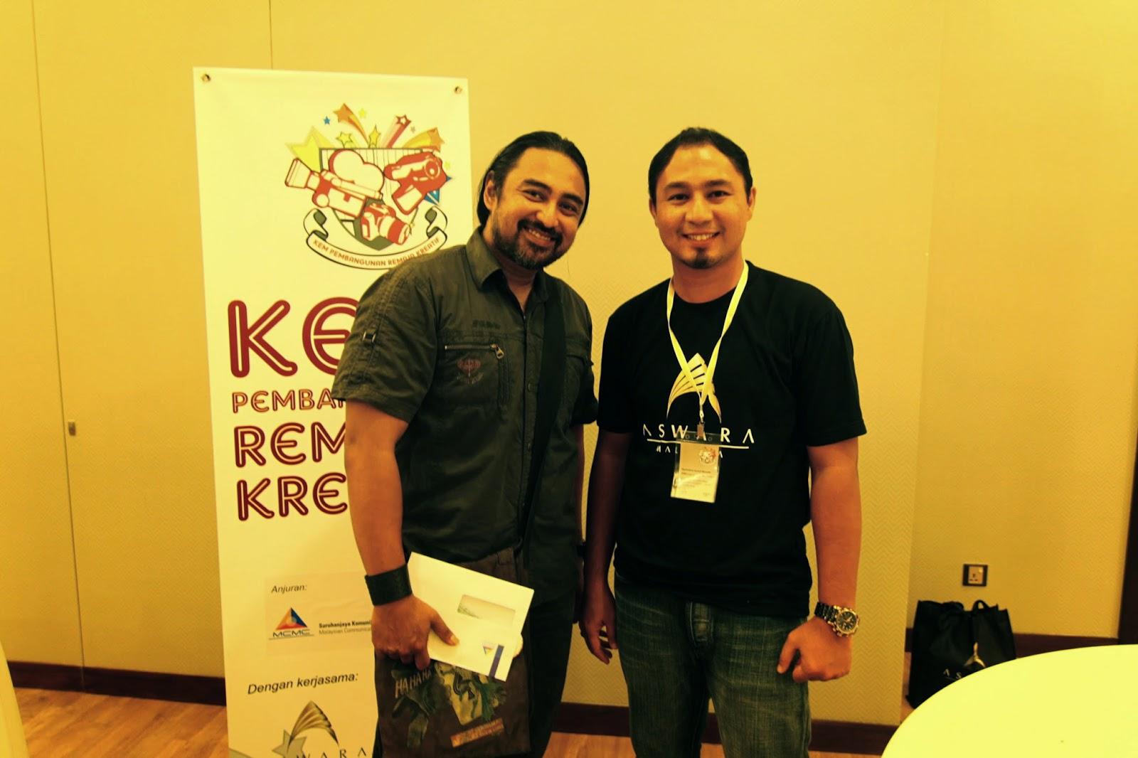 Megat Shahrizal dan Cikgu Hailmi di Kem Pembangunan Remaja Kreatif 2014