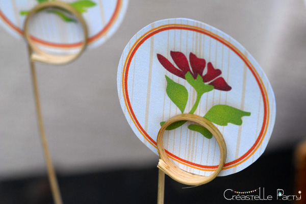 CreastelleParty - Tulip Mother's day - cupcake topper