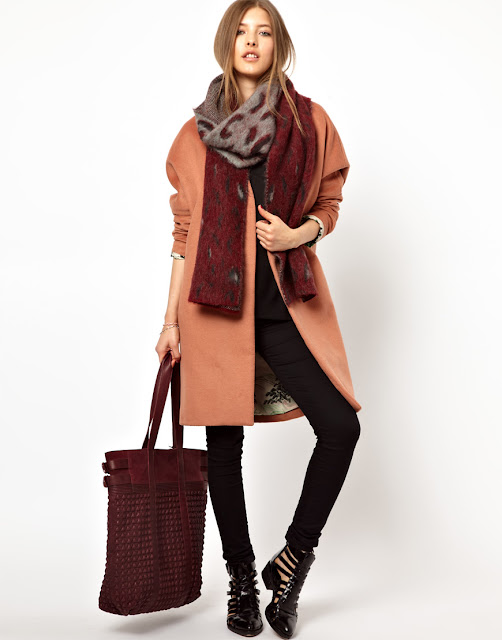 rose coat, oversized coat, maison scotch