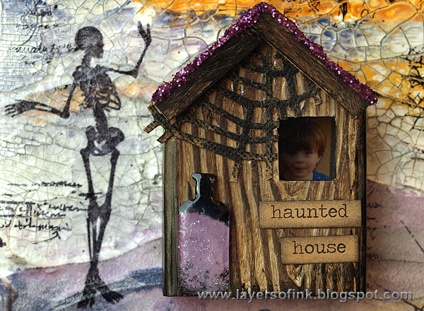 Layers Of Ink Spooky Mixed Media Canvas Tutorial