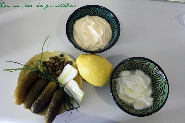 Ingredientes para ensalada de patatas