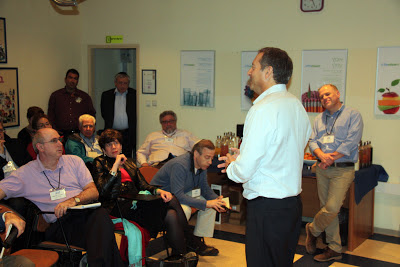 Daniel Birnbaum of SodaStream with Conservative Rabbis in Israel (Masorti Mission 2012)