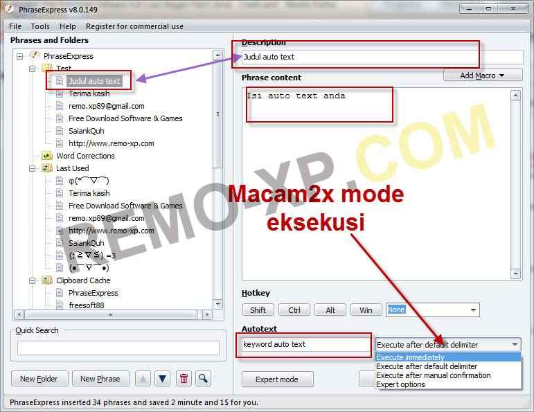 Screenshoot, Link MediaFire, Download PhraseExpress | Software Auto Text For PC | Software Unik | Mediafire