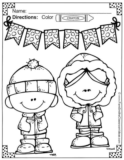 Fern Smith's Classroom Ideas Color for Fun, Second Semester Bundle for Fall Fun! Color For Fun Printable Coloring Pages Freebie