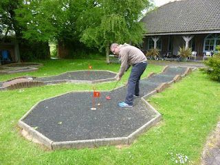 Crazy Golf course at the Thorne Park Golf Centre in Salcombe Regis, near Sidmouth, Devon