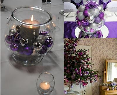 accesorio púrpuras para navidad
