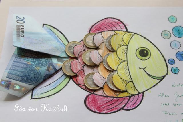 Geldgeschenke Basteln Fisch Dansenfeesten