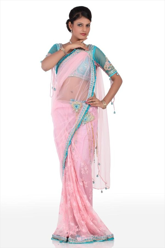 net saree designs