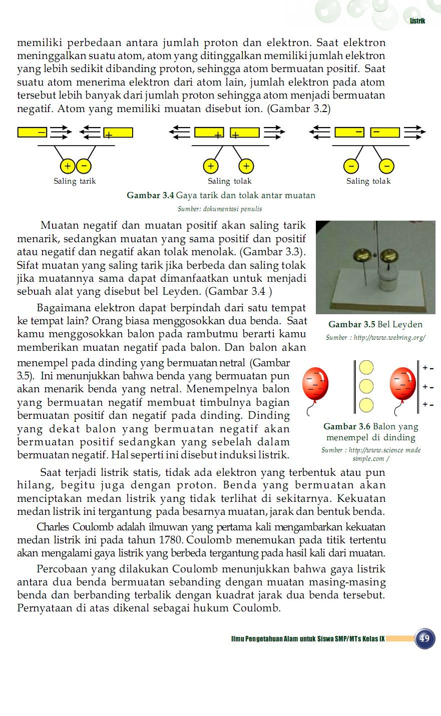 Os2kangkung Ipa Smp Mts 3 Kelas 9 Bab 3 Listrik
