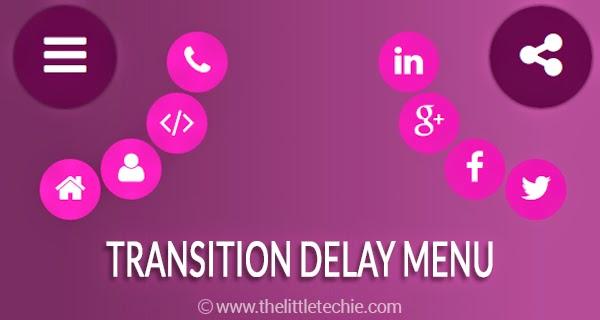 Transition Delay Menu