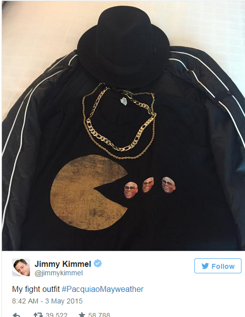 jimmy kimmel tweets on maypac fight