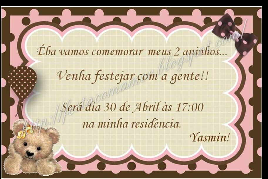 Convite E R  Tulo De Refri Festa Marron E Rosa