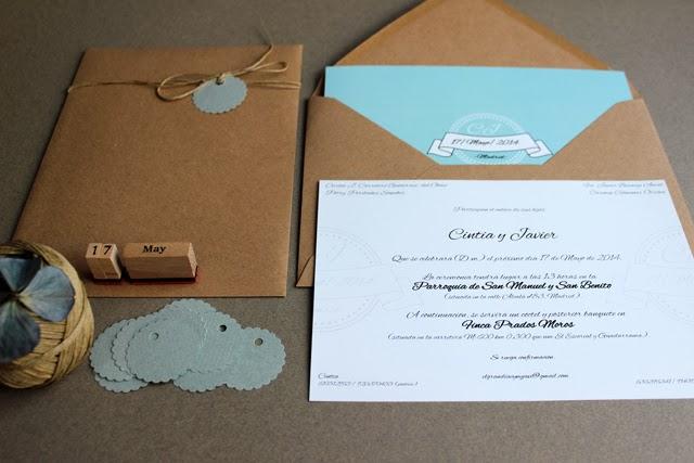 invitaciones de boda originales texto clásico