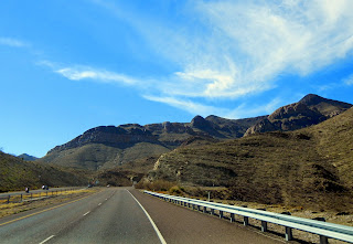 Driving into the Franklin Mountains