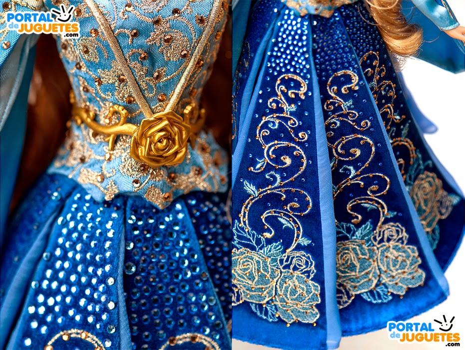 muñeca aurora azul edicion limitada disney store vestido