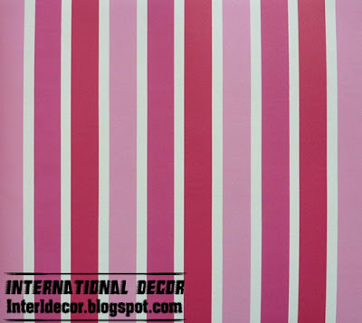 modern striped wall paint decoration pink Modern Striped wall paints designs, ideas, colors