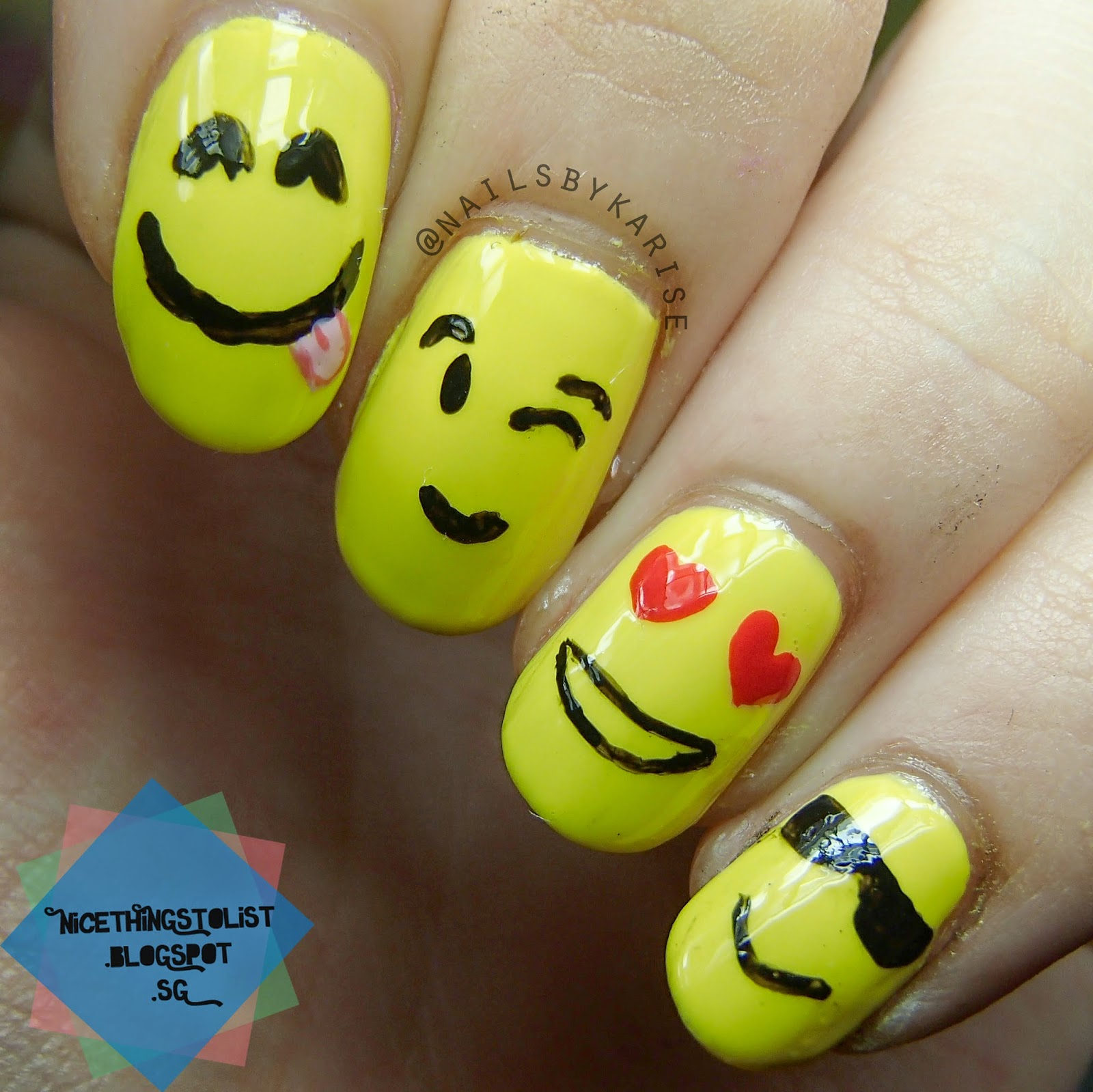 Mani Swap with @justsimplynaildesigns - Emoji Nail Art - Nice Things ...
