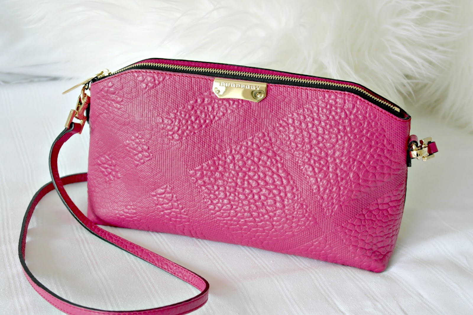 f17012fbba35 Pink Burberry Clutch Handbag - Devoted To Pink