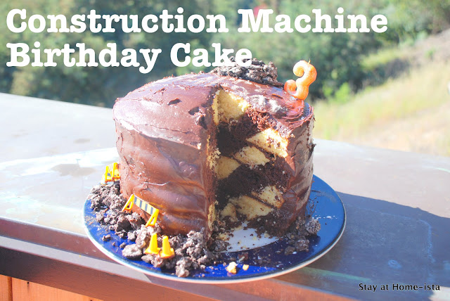 construction machine birthday cake