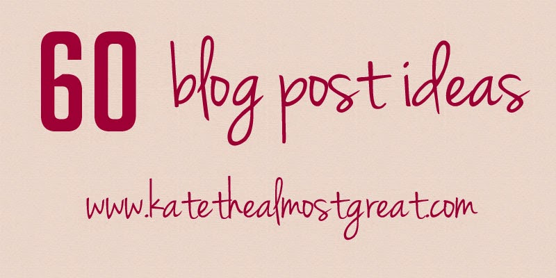 60 blog post ideas