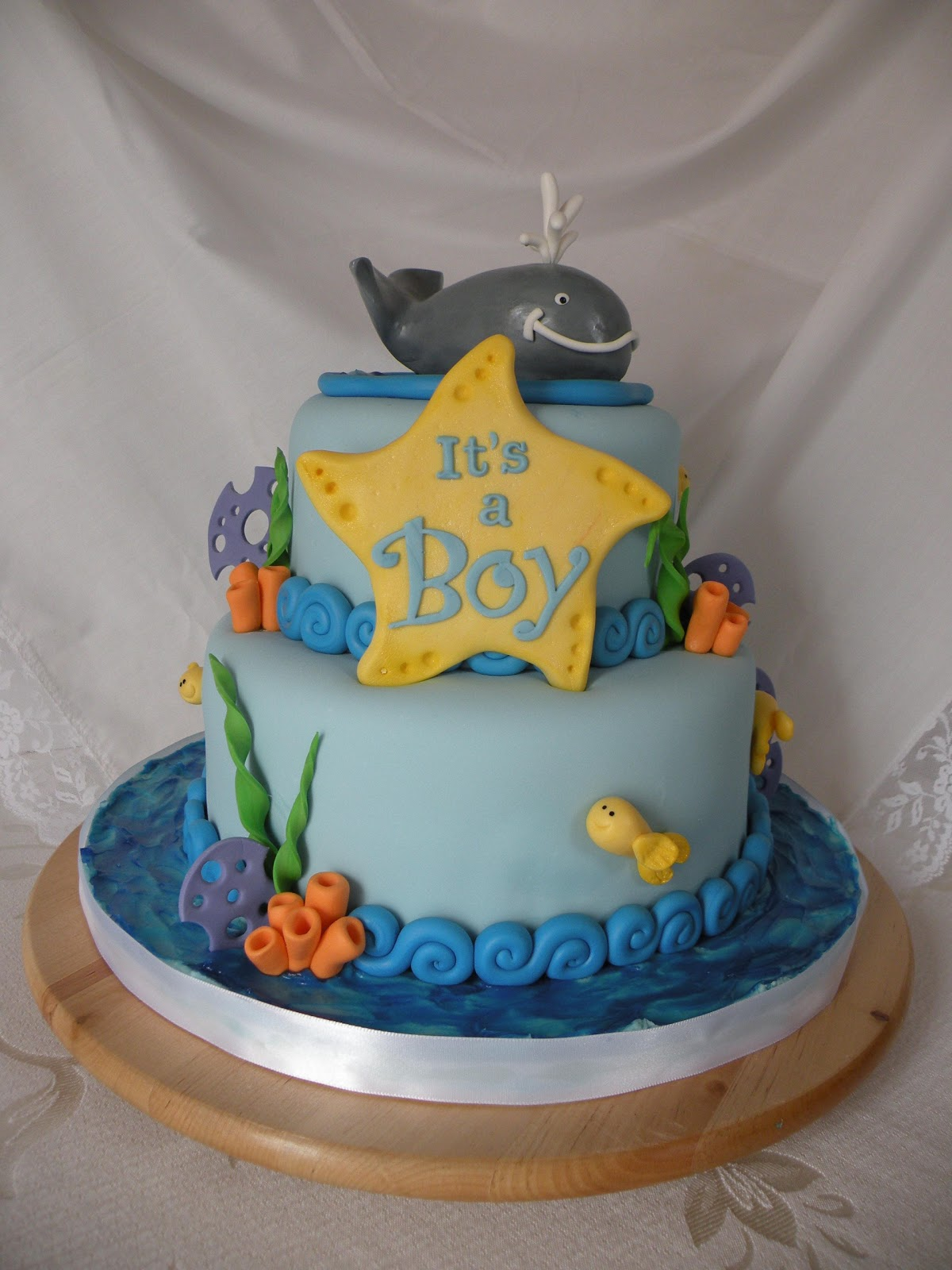 Teresas Tasty Temptations Whale Themed Baby Shower Cake For Baby