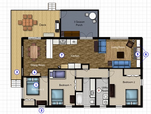 One Project At A Time DIY Blog The Cabin Plan - 3 season porch plans