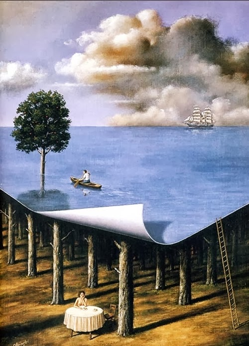 01-Artist-Painter-and-Graphics-Designer-Rafal-Olbinski-Surreal-Paintings-www-designstack-co