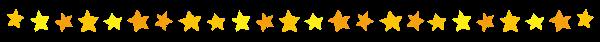 かわいいライン素材「星」