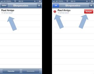 Desbloquear um contato WhatsApp no iPhone