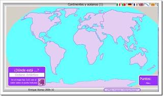 EL BLOG DE TERCER CICLO PLANISFERIO Continentes y ocanos